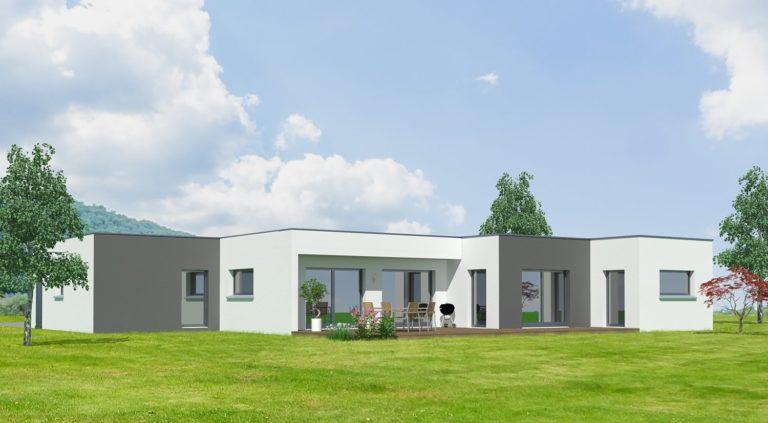 Maison bois contemporaine - 4 chambres, 180m², chambre, cuisine