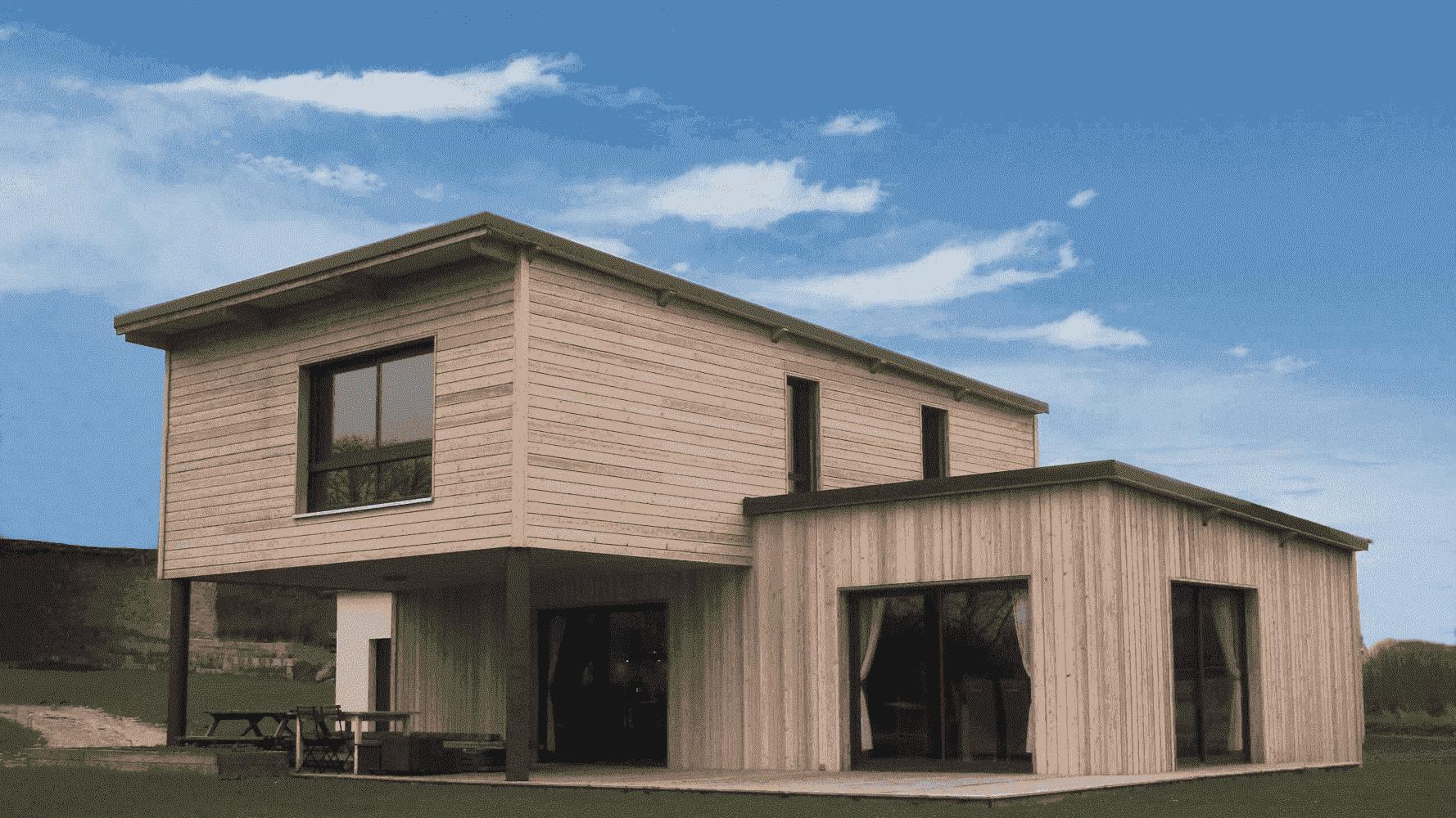prix maison en bois contemporaine
