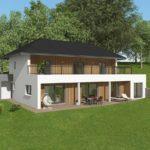 Maison bois moderne - 3 chambres, 152m², buanderie, cuisine, séjour, dressing, bureau, 2 douches, mezzanine et garage accolé